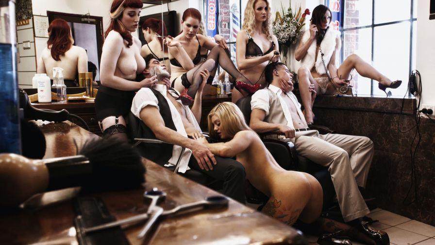 Фото парикмахерская эротика