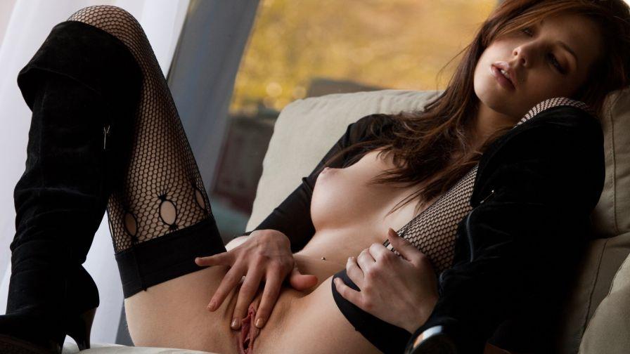 красивое порно в черных чулках