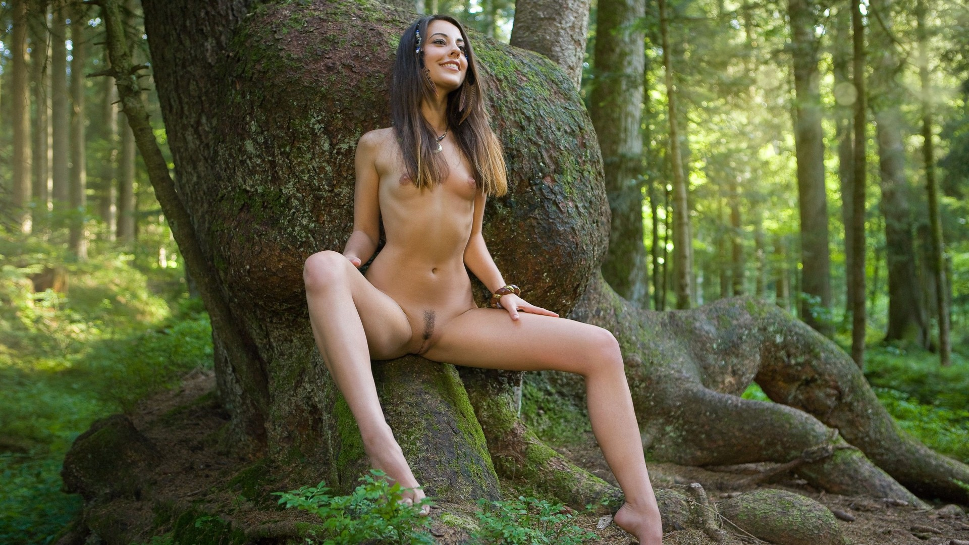 Erotic fantasy orges fucking me in forest  hentia scene